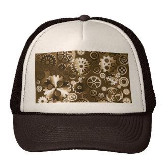 Sepia metallic gears trucker hat