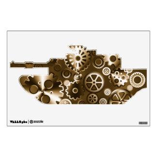 Sepia metallic gears wall decal
