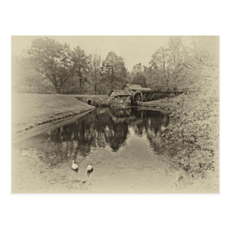 Sepia Mill Postcard