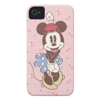 Sepia Minnie Mouse Case-Mate iPhone 4 Cárcasas