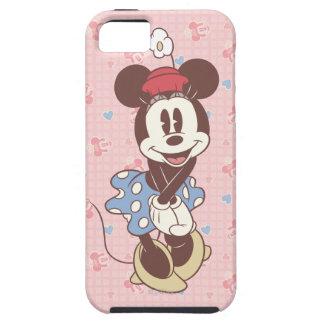 Sepia Minnie Mouse iPhone 5 Carcasas