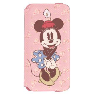 Sepia Minnie Mouse Funda Cartera Para iPhone 6 Watson