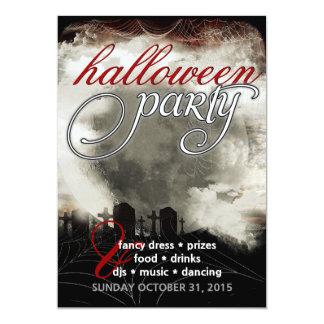 Sepia Moon Cemetery Dreams Halloween Party Invites