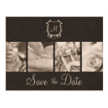 Sepia Motorcycle Photos Save the Date Announcement Post Cards
