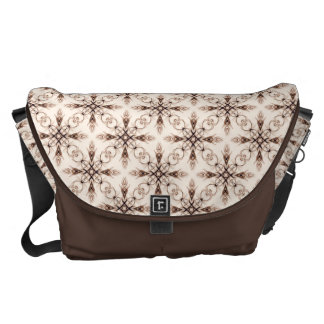 Sepia Neo Victorian Brown Fractal Courier Bag