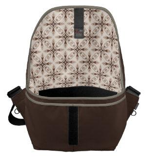 Sepia Neo Victorian Brown Fractal Messenger Bag