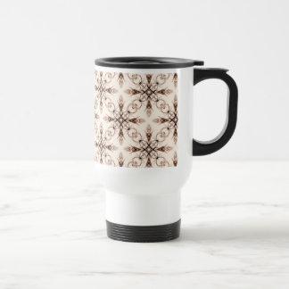 Sepia Neo Victorian Woodland Fractal Travel Mug