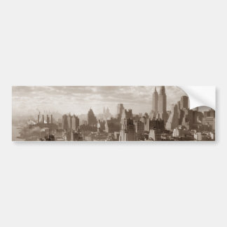 Sepia New York City Car Bumper Sticker