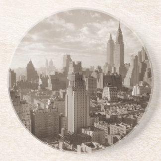 Sepia New York City Coaster