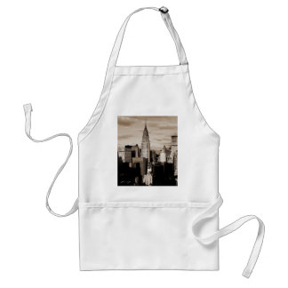 Sepia New York City Ink Sketch Adult Apron