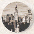 Sepia New York City Ink Sketch Drink Coaster
