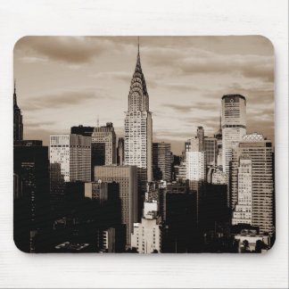 Sepia New York City Ink Sketch Mouse Pad