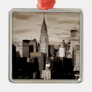 Sepia New York City Ink Sketch Ornaments