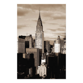 Sepia New York City Ink Sketch Stationery