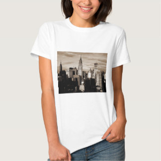 Sepia New York City Ink Sketch T-shirt
