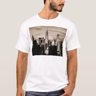 Sepia New York City Ink Sketch T-Shirt