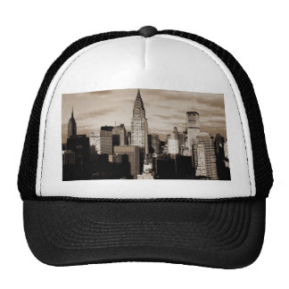 Sepia New York City Ink Sketch Trucker Hat