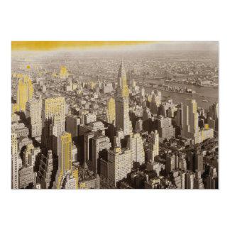 "Sepia New York City Invitation 5"" X 7"" Invitation Card"