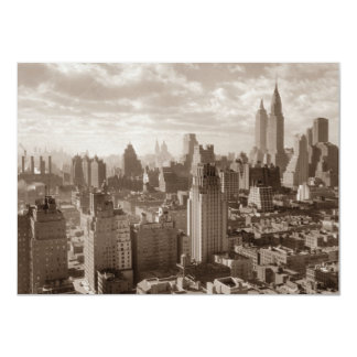 Sepia New York City Invitation