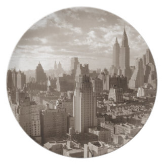 Sepia New York City Plate