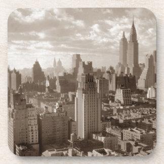 Sepia New York City Posavasos De Bebida
