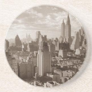 Sepia New York City Posavasos Manualidades