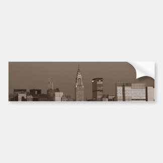 Sepia New York City Skyline Bumper Sticker