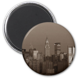 Sepia New York City Skyline Magnet