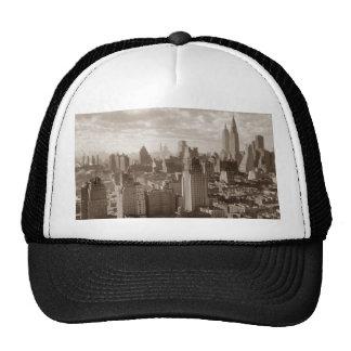 Sepia New York City Trucker Hat
