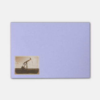 Sepia Oil Well Pumping Unit (cornflower blue) Post-it® Notes