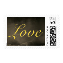 Sepia Old Fashioned Classical Love Wedding Family Postage