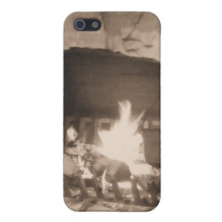Sepia Old Fashioned Fireplace Speck Case iPhone 5 Cases