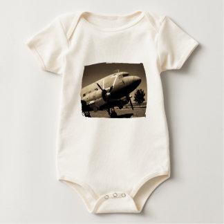 Sepia Onsie orgánico del C-47 Body Para Bebé