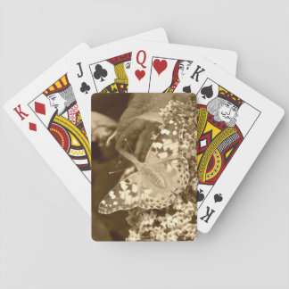 Sepia Painted Lady Butterfly Card Deck