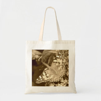 Sepia Painted Lady Butterfly Tote Bag