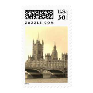 Sepia Palace of Westminster Postage