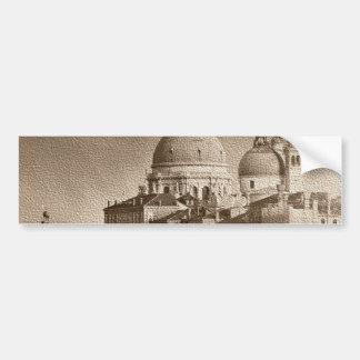 Sepia Paper Effect Venice Grand Canal Bumper Sticker
