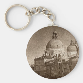 Sepia Paper Effect Venice Grand Canal Keychain