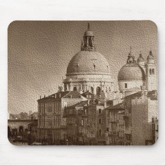 Sepia Paper Effect Venice Grand Canal Mouse Pad