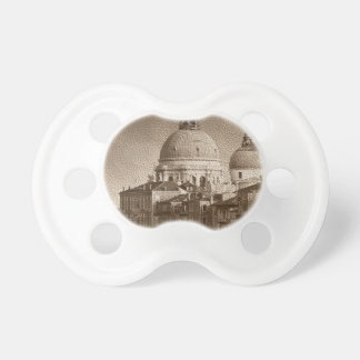 Sepia Paper Effect Venice Grand Canal Pacifier