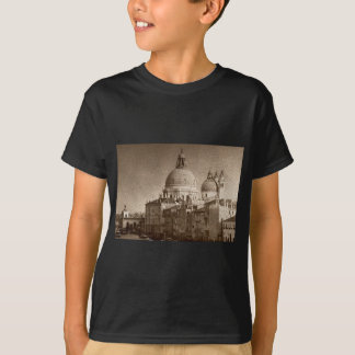 Sepia Paper Effect Venice Grand Canal T-Shirt