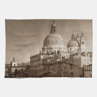 Sepia Paper Effect Venice Grand Canal Towel