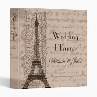 Sepia Parisian Wedding Planner Binder