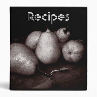 Sepia Pears Recipe Binder