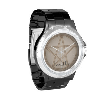 Sepia Pentacle Wrist Watches