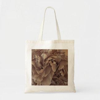 Sepia Peonies Tote Bag