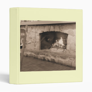 Sepia Photo Country Fireplace Binder