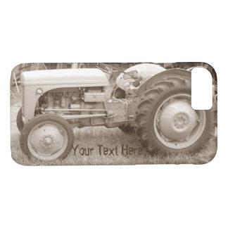 sepia photo vintage Gray massey fergison tractor  iPhone 8/7 Case