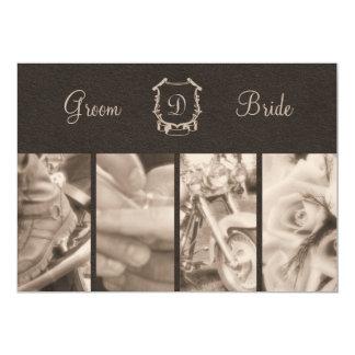 Sepia Photography Biker Wedding Invitation