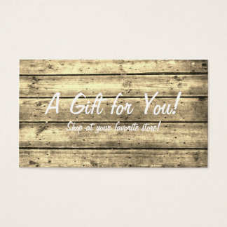 Sepia Planked Gift Card